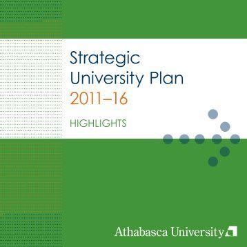Strategic University Plan 2011–16 - Athabasca University