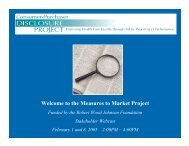 the Measures to Market Project - Consumer-Purchaser Disclosure ...