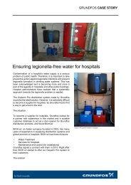 Ensuring legionella-free water for hospitals