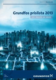 Grundfos prislista 2013 - Grundfos AB
