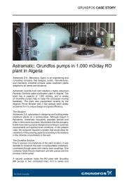 Astramatic: Grundfos pumps in 1,000 m3/day RO plant in Algeria