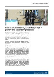 Rolinck private brewery: Grundfos pumps in primary and secondary ...
