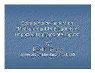 Measurement Implications of Imported Intermediate Inputs