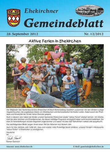 28. September 2012 Nr. 12/2012 - Ehekirchen