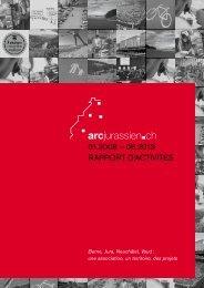 Télécharger le rapport d'activités - Arc Jurassien