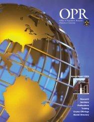 2005 - Office of Population Research, Princeton University