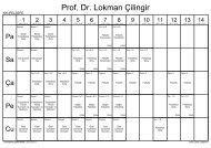 Öğretim Üyeleri Ders Yükü Programı