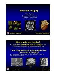 Molecular Imaging - University of Pennsylvania