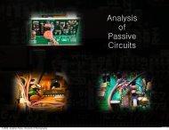 Analysis of Passive Circuits - University of Pennsylvania