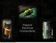 Passive Electrical Components - University of Pennsylvania