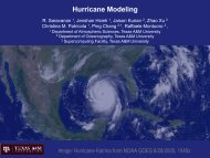 Hurricane Modeling - Department of Atmospheric Sciences - Texas ...