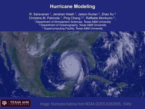 Hurricane Modeling - Department of Atmospheric Sciences - Texas ...