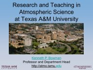 Research and Teaching in Atmospheric Science at Texas A&M ...