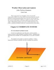Chapter 8: Coordinate Systems - Texas A&M University