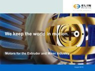 Extruder - Mixer - Elin Motoren GmbH