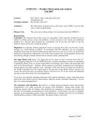 Syllabus - Department of Atmospheric Sciences - Texas A&M ...