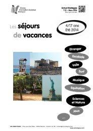 Les séjours de vacances - CRIJ Bretagne