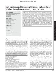 Soil Carbon and Nitrogen Changes in Forests of Walker Branch ...
