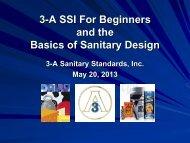 Basics of Sanitary Design (PDF) - 3-A Sanitary Standards