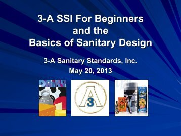 Basics of Sanitary Design (PDF) - 3-A Sanitary Standards