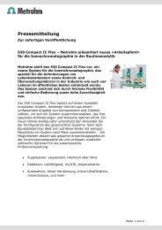 930 Compact IC Flex – Metrohm präsentiert neues ... - Chemiextra