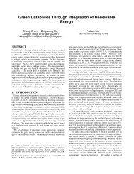Green Databases Through Integration of Renewable Energy