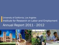 Annual Report 2011 - 2012 - UCLA Institute for Research on Labor ...