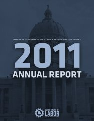annual report - Missouri Department of Labor & Industrial Relations