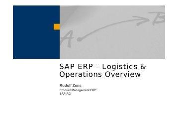 SAP ERP – Logistics & Operations Overview