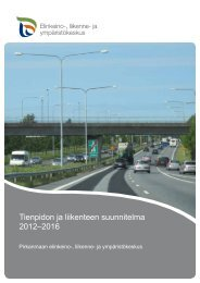 Tienpidon ja liikenteen suunnitelma 2012–2016 - Elinkeino ...