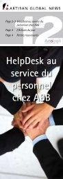 HelpDesk au service du personnel chez ABB - Artologik
