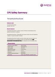 tetraethylorthosilicate GPS Safety Summary - Evonik Industries AG