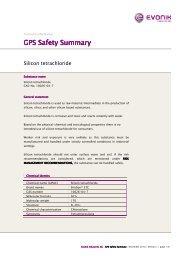 tetrachlorosilane GPS Safety Summary - Evonik Industries AG