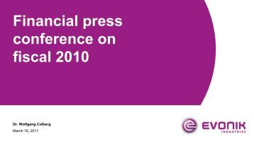 Financial Press Conference on Fiscal 2011 - Evonik Industries AG