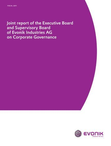Corporate Governance Report 2011 - Evonik Industries AG