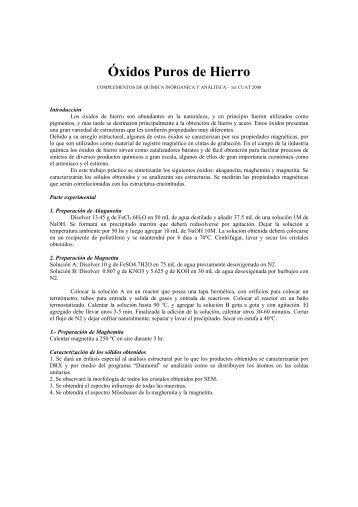 Óxidos Puros de Hierro - Departamento de Química Inorgánica ...