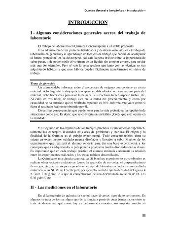 INTRODUCCION - Departamento de Química Inorgánica, Analítica y ...