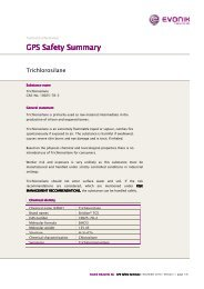 trichlorosilane GPS Safety Summary - Evonik Industries AG