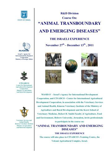 animal transboundary and emerging diseases - Agricultural ...