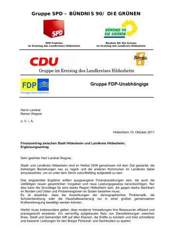 Gruppe SPD – BÜNDNIS 90 - CDU Kreistagsfraktion