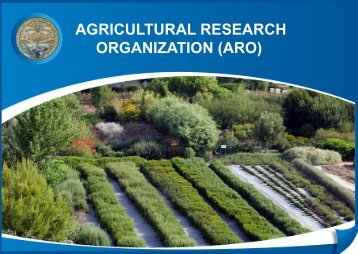 Development of - Agricultural Research Organization