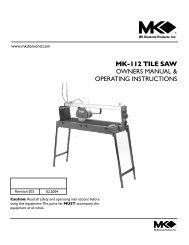 MK-112 TILE SAW - MK Diamond Products