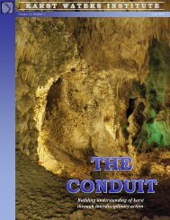 The Conduit - Karst Waters Institute