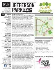 Sunday, October 7th | Pepsi Center - Jefferson Park United Neighbors