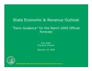 State Economic & Revenue Outlook - Funding Washington Schools