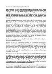Interview mit der Deutschen Polizeigewerkschaft ... - Julia Klöckner