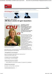 Interview mit FOCUS Magazin - Julia Klöckner