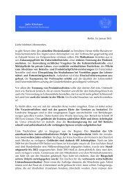 Berlin, 14. Januar 2011 Liebe Infobrief-Abonnenten ... - Julia Klöckner