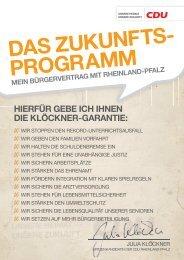 Zukunftsprogramm - Julia Klöckner