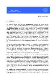 Berlin, 7. Januar 2011 Liebe Infobrief-Abonnenten ... - Julia Klöckner